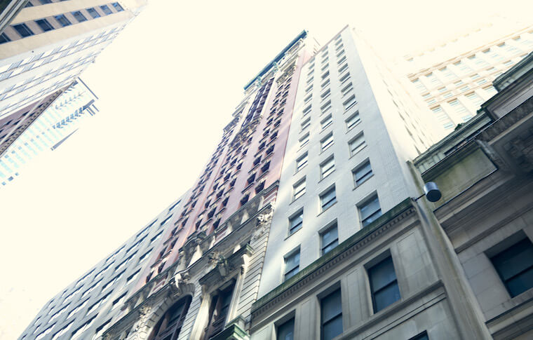 Building exteriors in Downtown New York