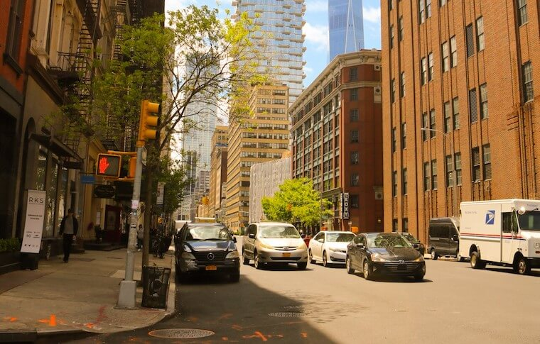 Street with cars in TriBeCa
