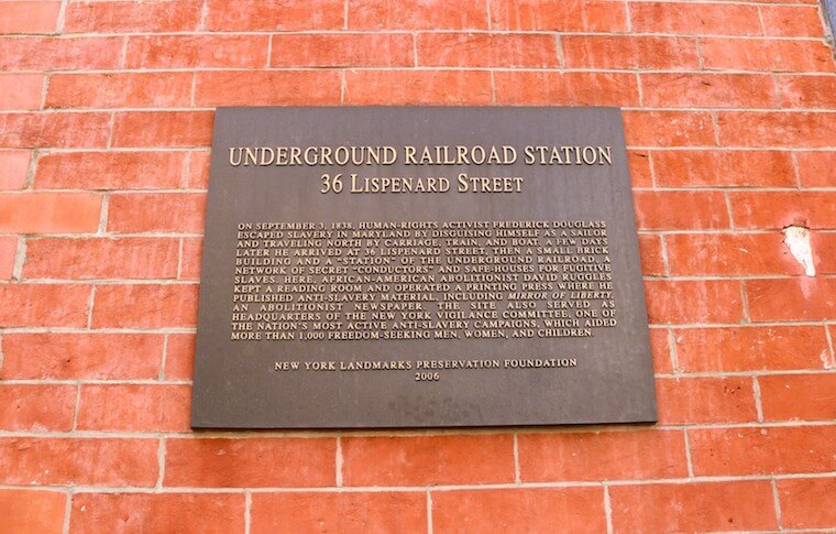 Underground Railroad Station sign